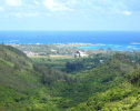 View of Laie before the trail drops down into the stream.