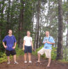Chris, Kristin, and Matt at the pine forest - 3/4 of the way to the waterfall.